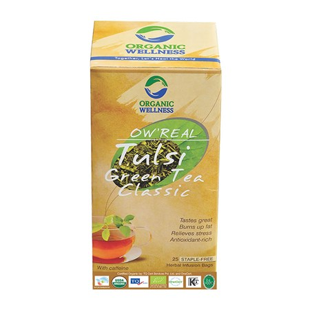 Picture of Organic Tulsi GreenTea online | OW' Real Tulsi Green Tea Classic - 25 Tea Bag Box