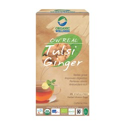 Picture of Organic Tulsi GingerTea online | OW' Real Tulsi Ginger - 25 Tea Bag Box