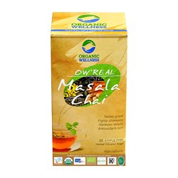 Picture of Organic Masala Tea online | OW' Real Masala Chai- 25 Tea Bag Box