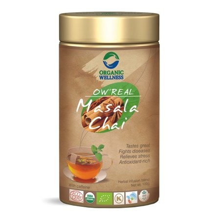 Picture of Organic MasalaTea online India | OW' Real Masala Chai Tin - 100gm
