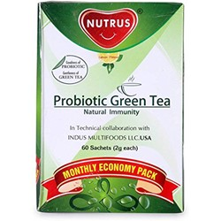 Picture of Nutrus Probiotic Green Tea Lemon Flavour (60 Sachets)