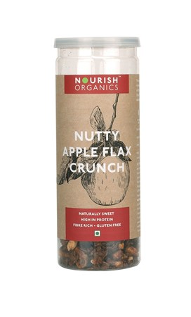 Picture of Organic Nutty Apple Flax Crunch 90gms