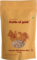 Picture of Fields of Gold - Organic Red Beaten Rice(Poha), 500g