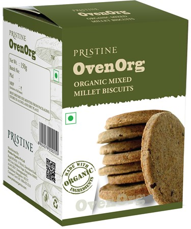 Picture of OvenOrg - Organic Mixed Millet Biscuits, 150 g