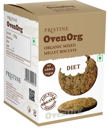 Picture of OvenOrg - Organic Mixed Millet Biscuits Diet, 150 g